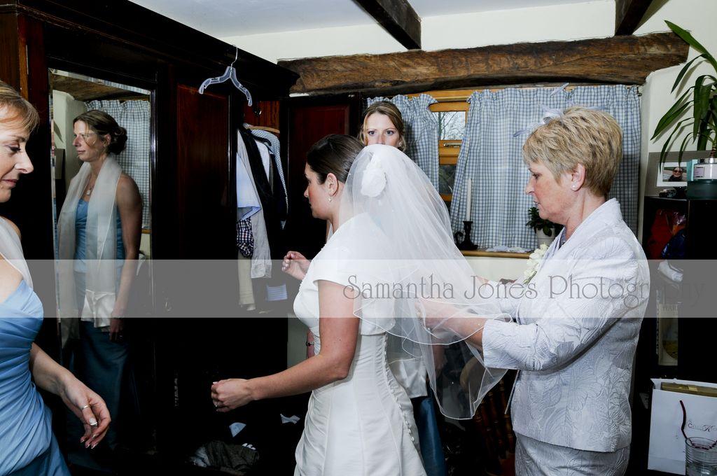 The bride's preparations