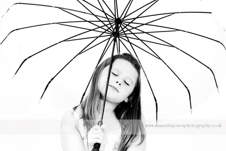 Mia and parasol
