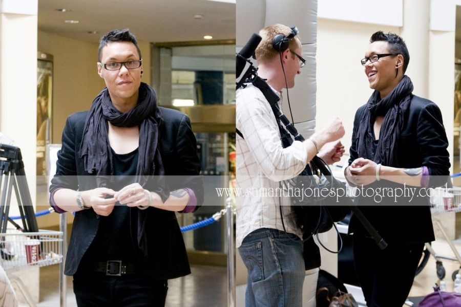 """Gok Wan at Bluewater shopping centre filming """"How To Look Good Naked"""""""