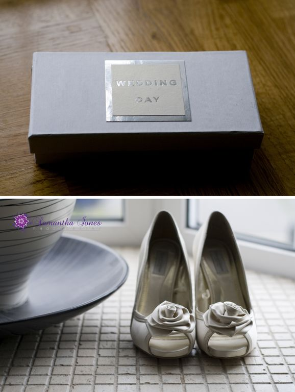Shoes and wedding day montage