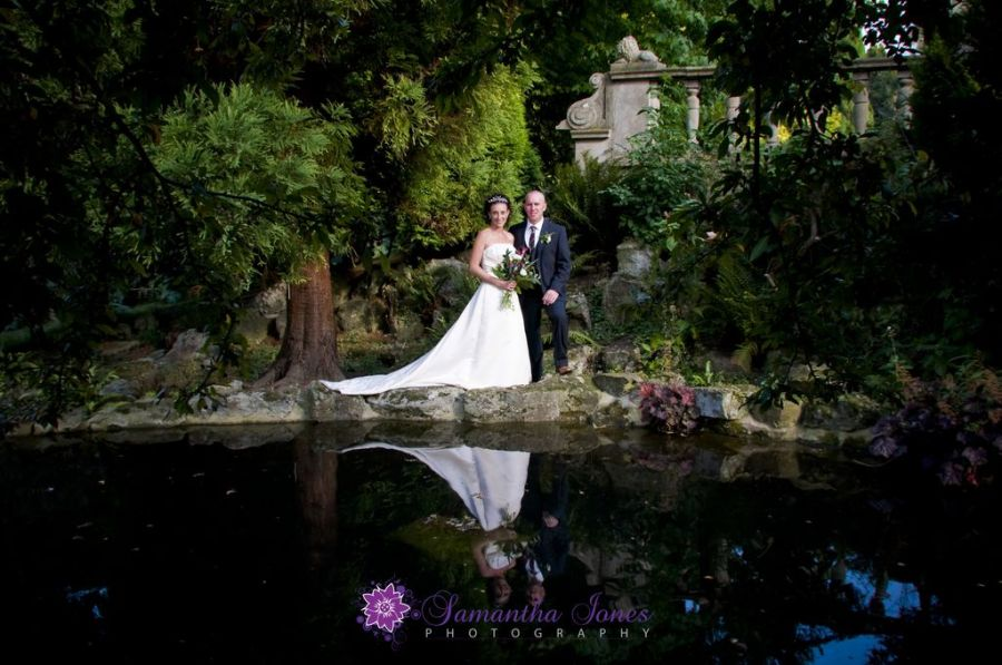 Gillian and Shaun at Mount Ephraim gardens Kent