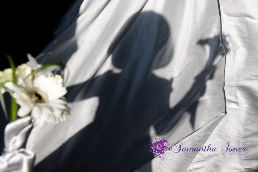 Siobhan and Gary bridesmaid's shadow