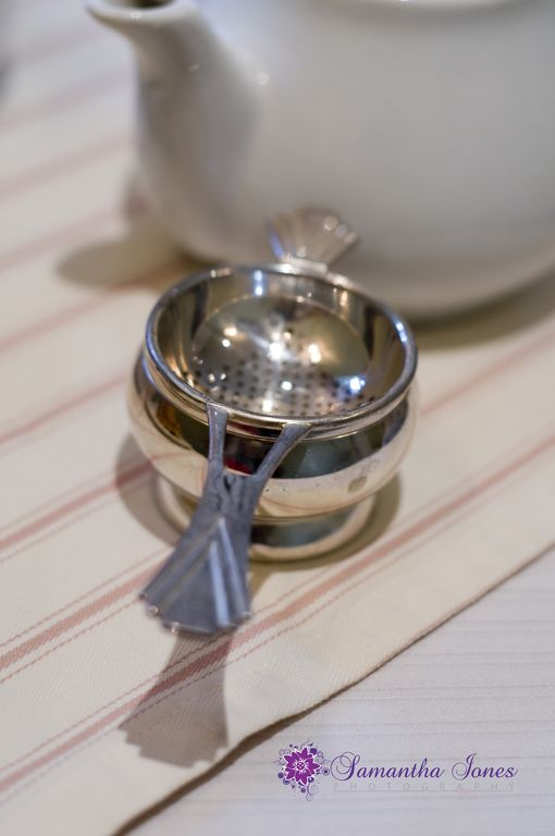 Tea strainer at the Salutation Tea Rooms in Sandwich