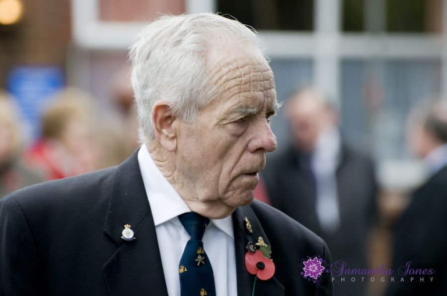 Gentleman at the Remembrance Day Service in Faversham