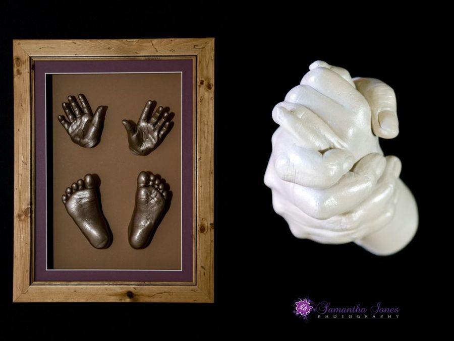 Impala Impressions product shots baby hand and feet casting
