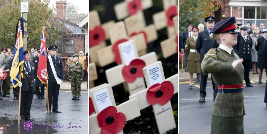 Remembrance Day Service in Faversham montage