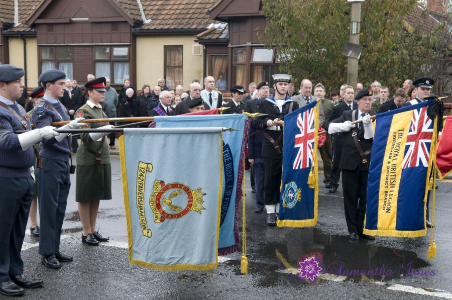 The Colours at the Remembrance Day Service in Faversham