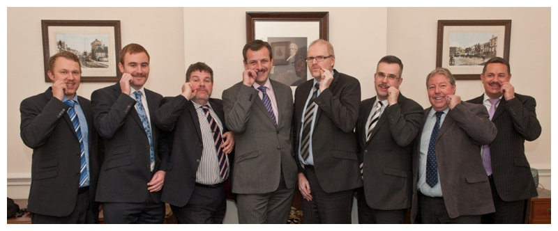 Whitehead Monckton raising funds for the Movember charity photographed by Samantha Jones Photography