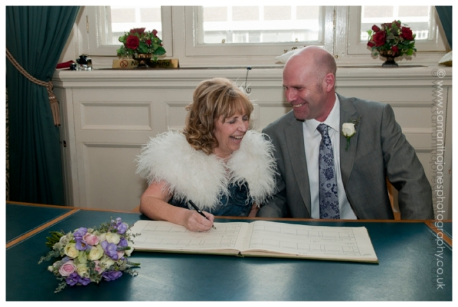 Julie and Peter wedding at Croydon Register office by Samantha Jones Photography