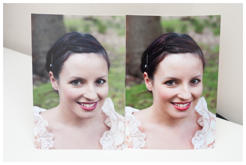 Example of difference in toning