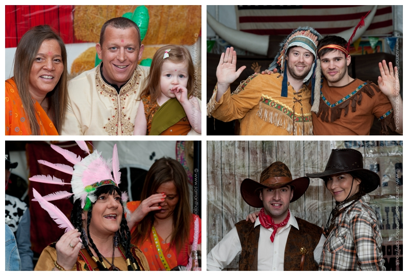 Wild West theme party portraits