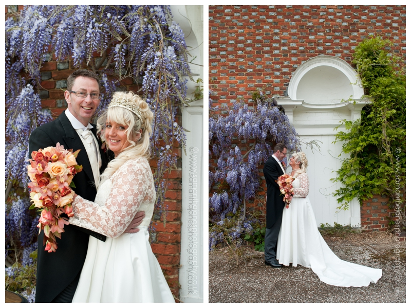 Bradbourne House wedding, Kent wedding photographer, Samantha Jones Photography, wisteria