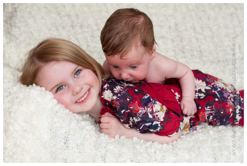 Brother and sister by Kent family photographer Samantha Jones Photography