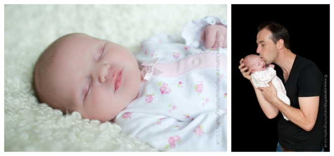 Baby Aoife's first photoshoot