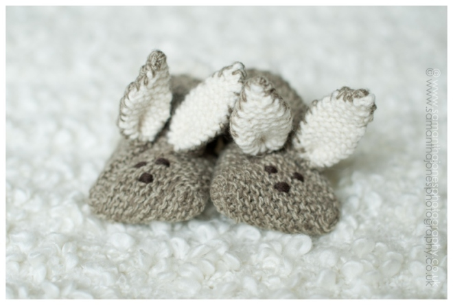Baby Aoife's super cute bunny slippers