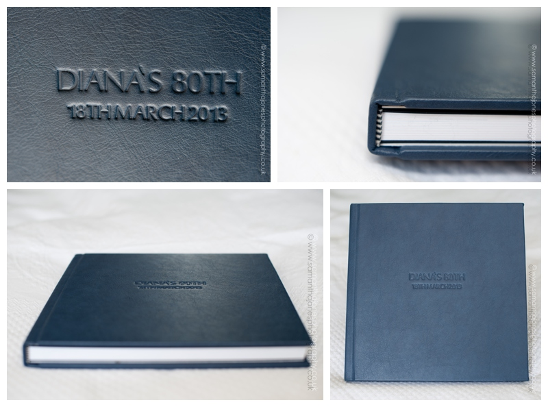 Diana's leather bound album