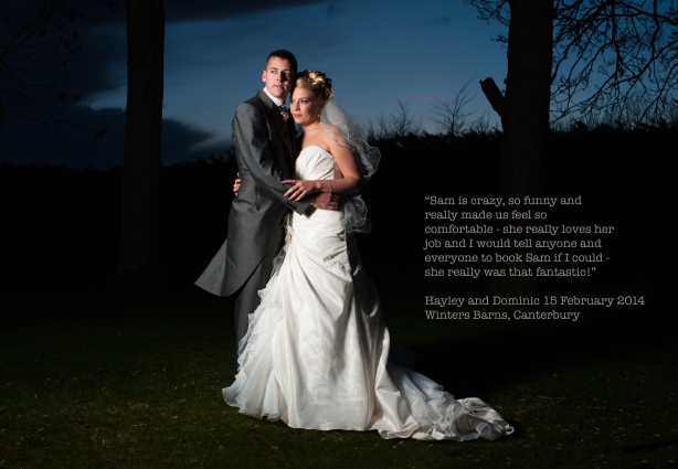Hayley and Dominic, Winters Barns
