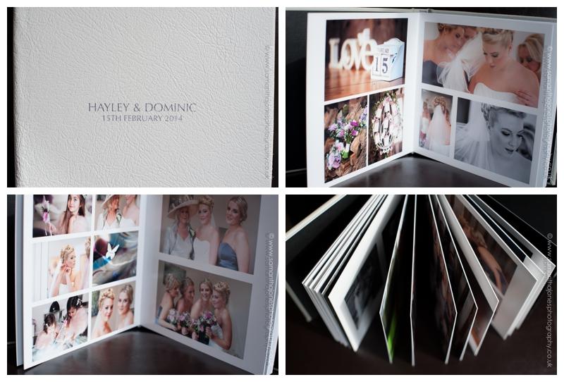 Hayley and Dominic wedding album designed by Samantha Jones Photography