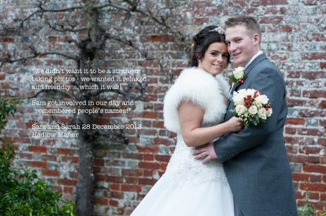 Sarah and Sam, Hadlow Manor