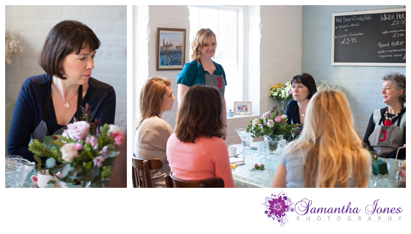 Julie Davies flower workshops in Faversham photographed by Samantha Jones Photography