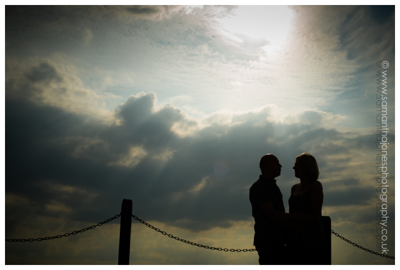 Jill and Kevin pre-wedding photoshoot at The East Quay in Whitstable by Samantha Jones Photography