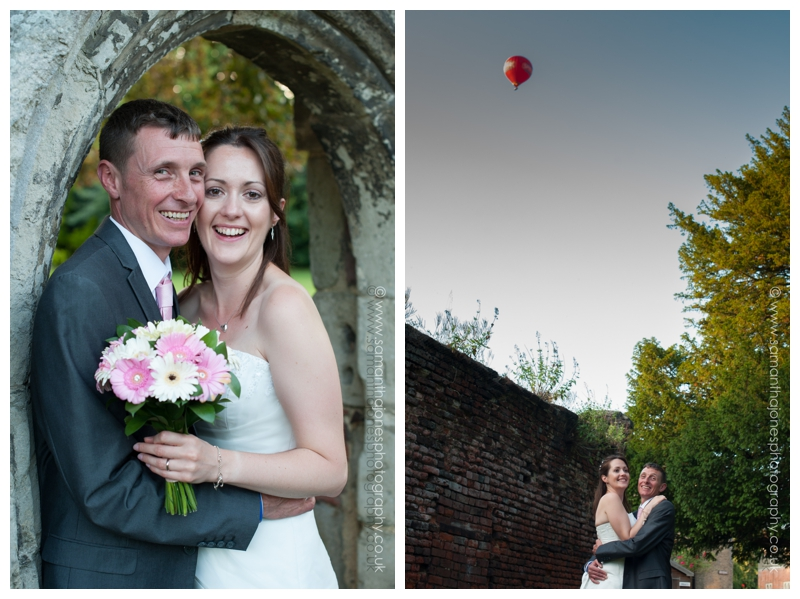 Kirsty and Robin portraits and balloon by Samantha Jones Photography