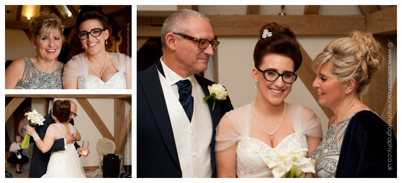 Jemma and Rob winter wedding at The Old Kent Barn by Samantha Jones Photography 15