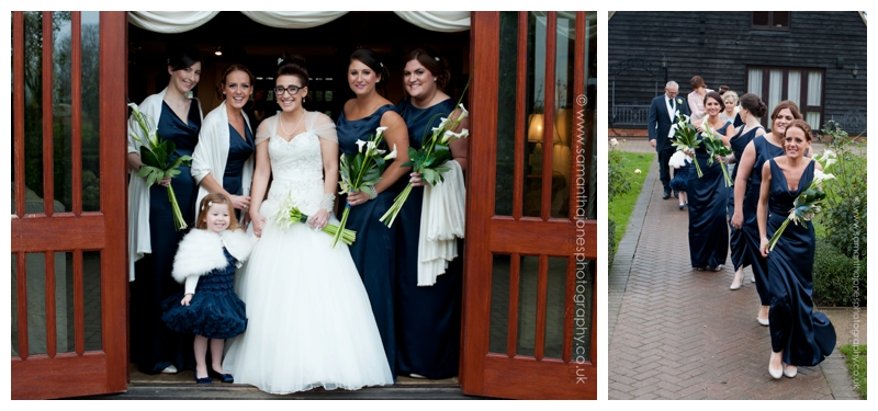 Jemma and Rob winter wedding at The Old Kent Barn by Samantha Jones Photography 17