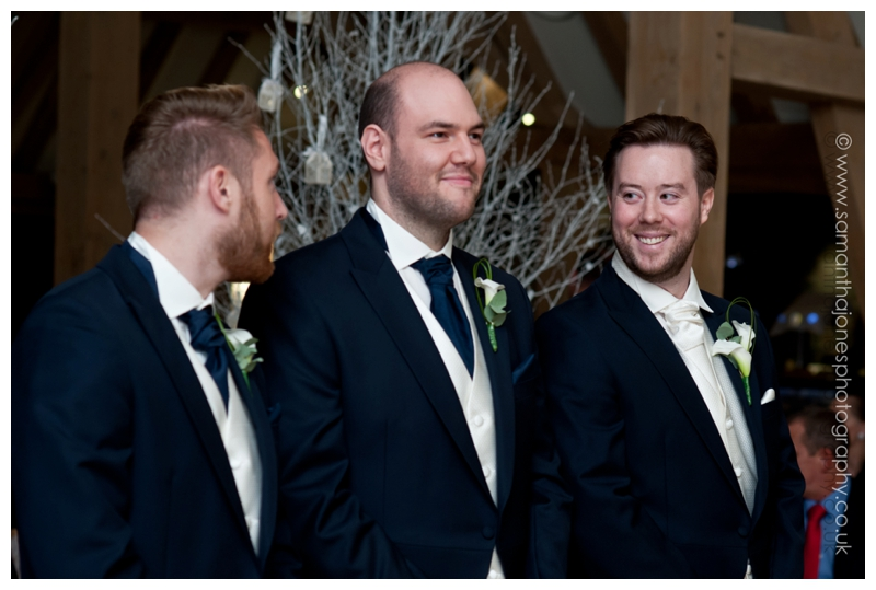 Jemma and Rob winter wedding at The Old Kent Barn by Samantha Jones Photography 20
