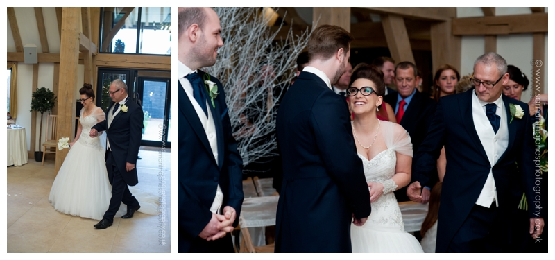 Jemma and Rob winter wedding at The Old Kent Barn by Samantha Jones Photography 20a