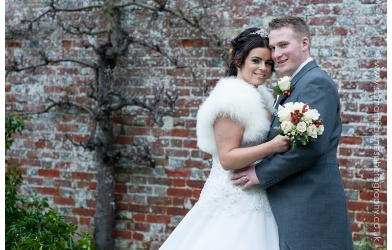 Sarah and Sam and the snow machine … their full wedding story at HadlowManor