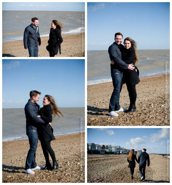 Nick and Decia pre-wedding photoshoot at Whitstable by Samantha Jones Photography