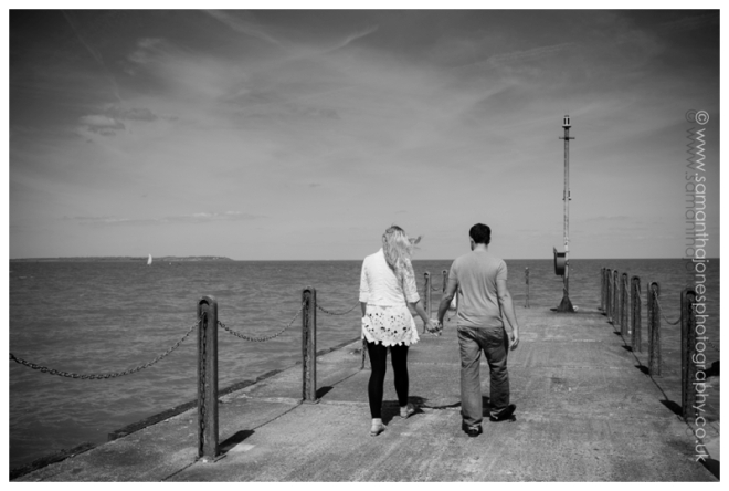 Sarah and Jon pre-wedding photoshoot at East Quay in Whitstable by Samantha Jones Photography 03