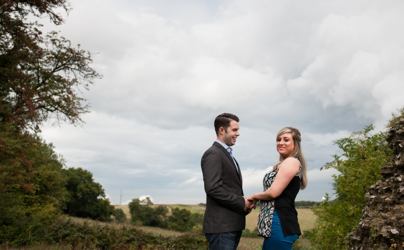 Thunder rumbled in the distance … Shelley and Paul's pre-wedding photoshoot at The Black Horse in Thurnham