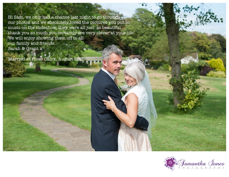 Testimonial from Sarah and Grant married at Pines Calyx