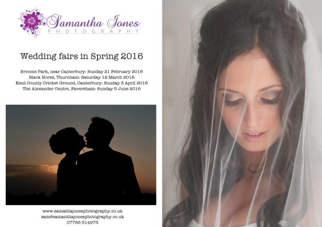 Wedding fairs in Spring 2016 Samantha Jones Photography border
