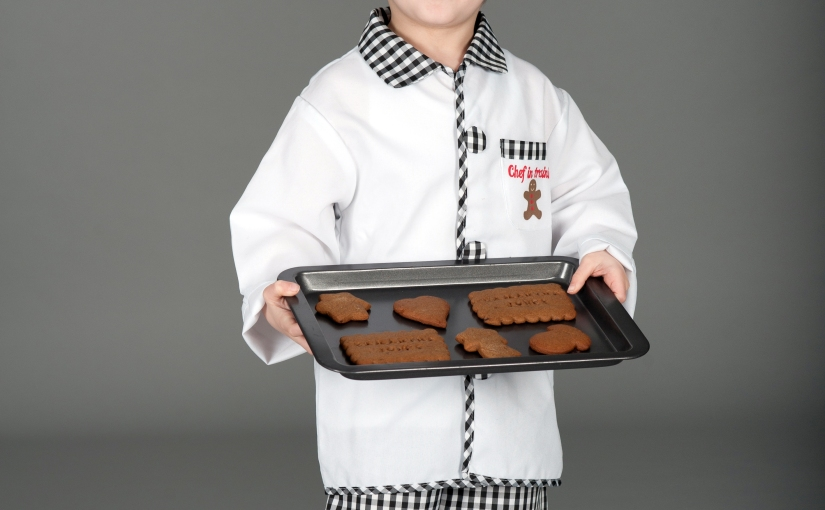 A chef in training and personalised biscuits …