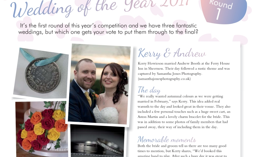 The voting starts now … Kerry and Andy's wedding at HartyFerry