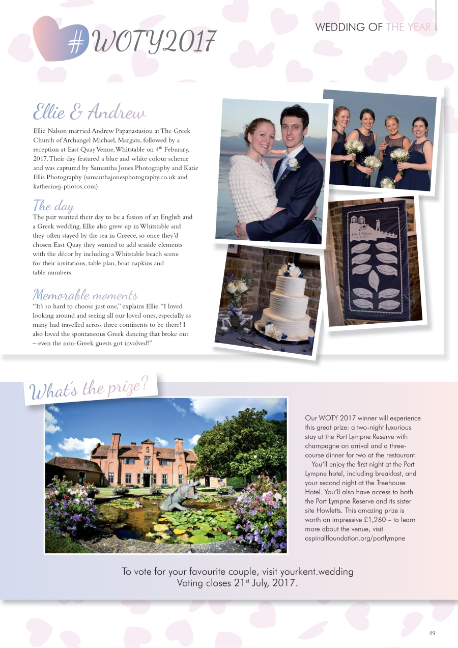 Ellie and Andrew in Your Kent Wedding magazine.jpg