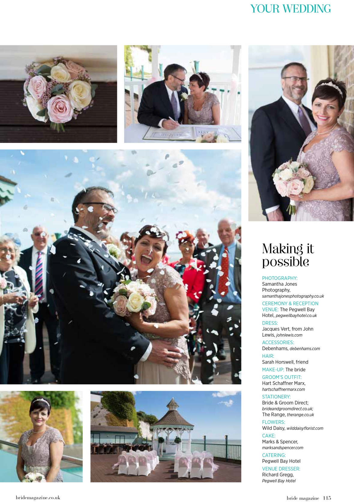 Lisa and Robert wedding at Pegwell Bay in Bride Magazine 2