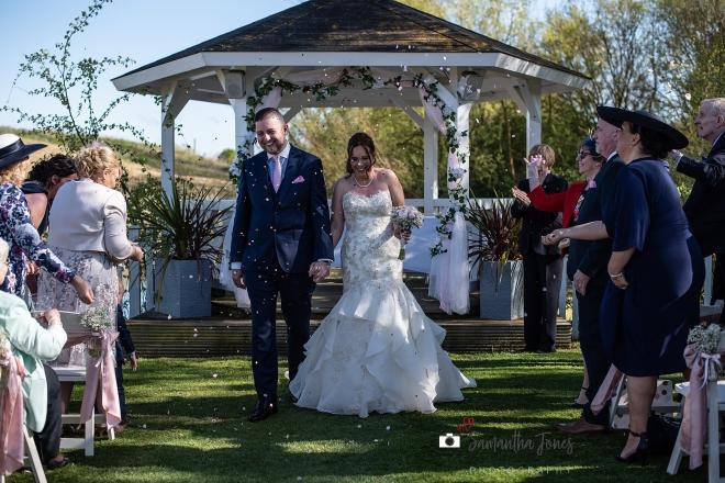 Emma and Aaron wedding at Stonelees 08